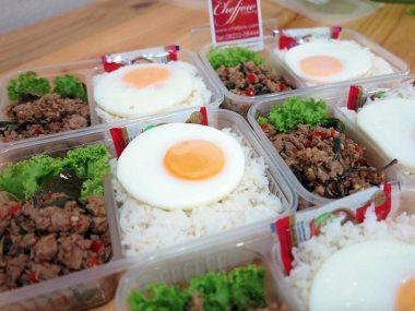 อาหารกล่อง-กระเพราเป็ด-ไข่ดาว