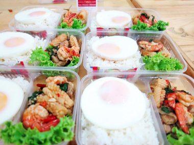 อาหารกล่อง-ผัดกระเพรารวมมิตร-ไข่ดาว