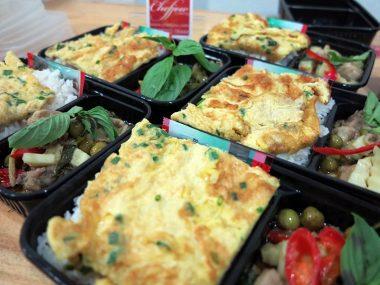 อาหารกล่อง-แกงเขียวหวานเนื้อน่องไก่-ไข่เจียว