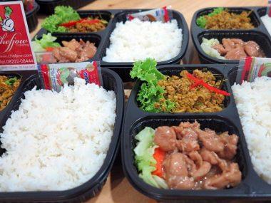 อาหารกล่อง-ไก่ผัดซอสเทริยากิ-คั่วกลิ้ง